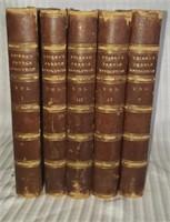 Set of 5 1838 Thier's french revolution vol 1-5