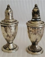 Pair of Sterling Weighted Salt & Pepper Shakers