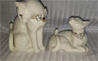 Pair of beautiful Lenox Sweet Devotion cats