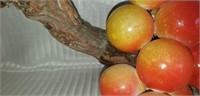 Beautiful marble fruit