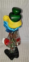 Beautiful murano style clown decor