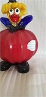 Beautiful murano style glass clown