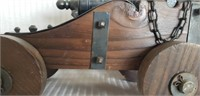 Beautiful wood and metal cannon decor