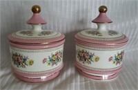 Pair of Fidrentine porcelain candy dishes