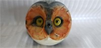Pair of beautiful marble owl head paper weights