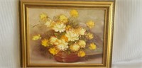 Beautiful Robert Cox on canvas framed painting