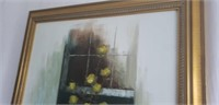 Beautiful large framed on canvas painting