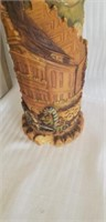 Beautiful vintage handbemalt candle and holder