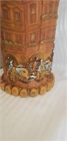 Vintage European candle and candle holder