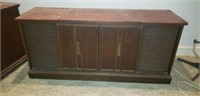 Beautiful vintage large record player cabinet