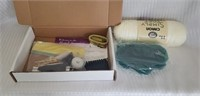 Estate lot of yarn, measuring device, ect