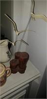 Estate lot of decorative items