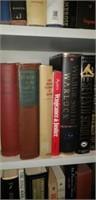 Estate lot of a shelf of books