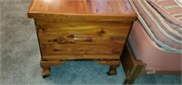 Beautiful Vintage Cedar Trunk with Brass Accents
