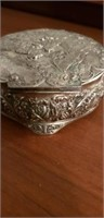 Estate lot of silver plated jewlery boxes
