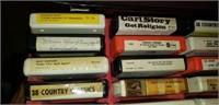Estate lot of vintage 8 track tapes