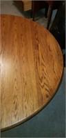 Beautiful wood circle dining table