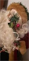 Decorative santa tree topper