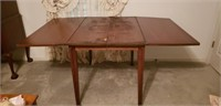 Mahogany drop leaf table, as is
