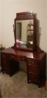 Antique mahogany wooden 7 drawer vanity