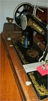 Frister & Rossmann sewing machine in wood case
