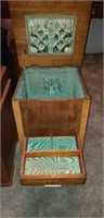 Side table storage box with a drawer
