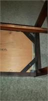 Wooden upholstered bench
