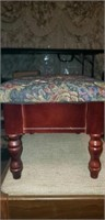 Small wood footstool with storage
