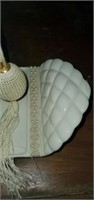 3 pc Pearl Accented Perfume Bottle & Tray