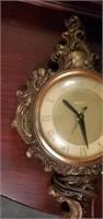 Beautiful Antique Brass Electric United Clock