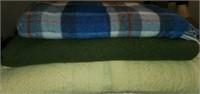 Estate Lot of Misc Household Blankets