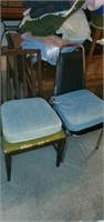 Estate Lot of 2 Misc Chairs & Cushions