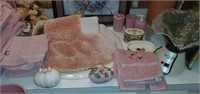 Entire Lot of Pink Bathroom Misc Contents