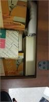 Beautiful vintage singer sewing machine in cabinet