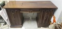 Beautiful wood sewing machine desk