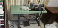 Vintage Singer 251-12 sewing machine and table