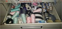 Estate lot of sewing supplies