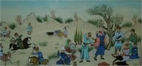 Very Nice Vintage Framed Middle Eastern Painting