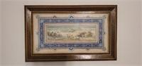 Vintage Framed Midde Eastern Painting