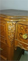 Beautiful Wood Carved Vanity with Mirror