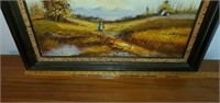Gorgeous Oil on Canvas Herb Parnall Painting