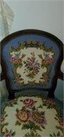 Beautiful Vintage Upholstered Floral Chair