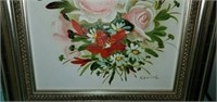 Beautiful Framed Kearns Floral Painting