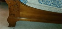 Beautiful Carved Wood King Size Bed Set
