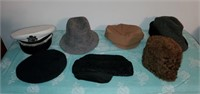 Lot of 7 Vintage Male Hats