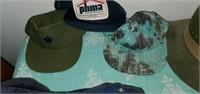 Estate lot of Men's Fedoras, Hats, Scarves, Etc