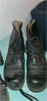 Estate Lot of 5 Black Steel Toe Combat Boots