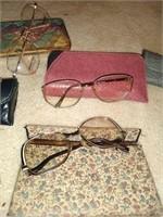 Vintage glasses and sunglasses