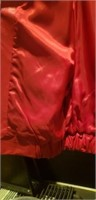 Mens medium red comint leather jacket