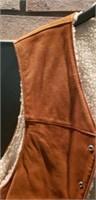 Genuine leather XL vest